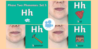 Phase Two Phonemes: Set 5: 'h' Video - Phonics, Letters and Sounds, Grapheme, pronunciation, b,f,ff,h,l,ll,ss