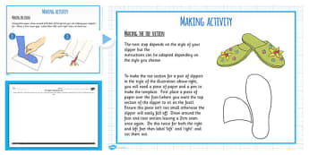 Slipper Project Planning and Making Teaching Pack - DT, plans