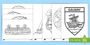 The Galway International Oyster Festival Colouring Pages - ROI, Irish Festivals, celebrations, tradition, market, creative, mindfulness, independent,Irish