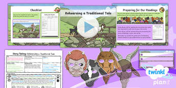 PlanIt Y4 Traditional Tales: The Three Billy Goats Gruff Lesson Pack Storytelling (2)
