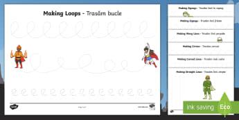 Superhero Themed Pencil Control Activity Sheets English/Romanian - Superhero Themed Pencil Control Worksheets - EAL superheroes, pencil, pencilcontrol, superhereos, su