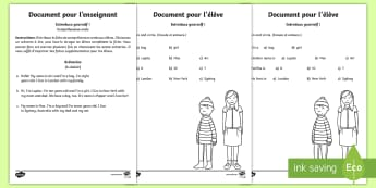 Se présenter (Introduce yourself) Compréhension orale Anglais - KS1, ESL, je m'appelle, langues vivantes, Cycle 2, listening, ecoute