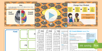 KS1 Growth Mindset Lesson Plan and Differentiated Activity Sheets - fixed mindset, attitude, behaviour, mindset, Carol Dweck.