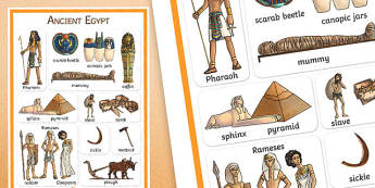 Ancient Egypt Vocabulary Poster - egypt, vocab mat, history, keyword