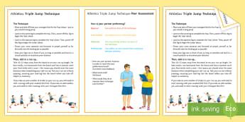 Athletics: Triple Jump Techniques Card  - athletics, pe, Jumping, Johnathon Edwards, athlete, olympics, triple jump