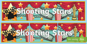 Film Studio Role Play Banner - Shooting Stars Display Banner-film studio, movie studio, role play, banner, role play banner, film s