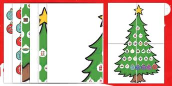 Calendario de Adviento: Árbol de Navidad - adviento, advent, calendario, navideño, decoración, decorar - adviento, advent, calendario, navideño, decoración, decorar