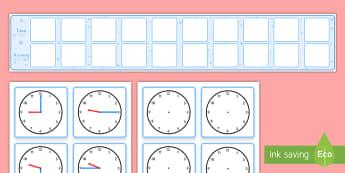 Visual Timetable Display With Clocks - Visual Timetable Display With Clocks - visual timetable display with clocks, timetable, clocks, dail