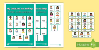 My Emotions and Feelings Vocabulary Matching Mat English/Portuguese - silly billy, emotions, feelings, vocabulary, matching mat, word mat, vocabulary mat, vocab mat, keyw