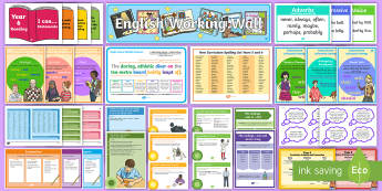 Y5/6 English Working Wall Display Pack - Literacy, Y5, Y6, KS2, UKS2, Writing, complete display, full display, learning prompts