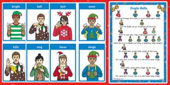 BSL Jingle Bells Song Sheet Song