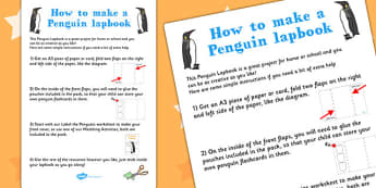 Penguin Lapbook Instructions Sheet - lapbooks, instructions, sheet