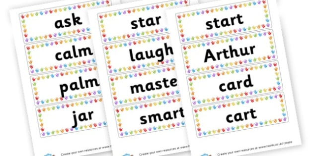 ar Extended Code Word Cards - Words & Vocab Primary Resources, literacy, keywords, cvc, phonemes