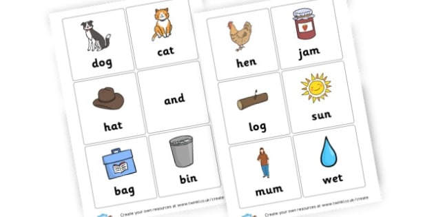 3 Letter Words - General Literacy Primary Resources, Literacy, English, Display, EY
