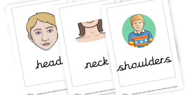 Parts of the Body Cards - The Human Body Primary Resources, Body, Our Bodies, Human, Life