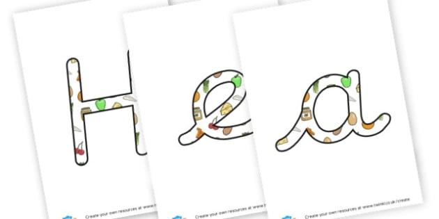 Healthy School - display lettering - Healthy Eating, Display,  Primary Resources - food, meals, health