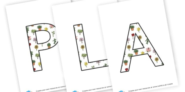 Plants - display lettering - Plants & Growth Display Primary Resources, flowers, growing