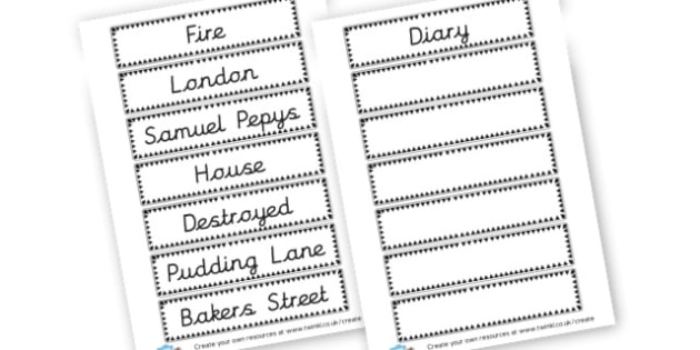 Great Fire of London Vocabulary Cards - The Great Fire of London Primary Resources, Fire of London, Plague, Great, Grat, Fire