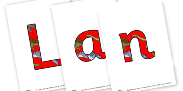Land of the Dinosaurs - Display Lettering - Dinosaurs Display Primary Resources, t-rex, dino,  poster,