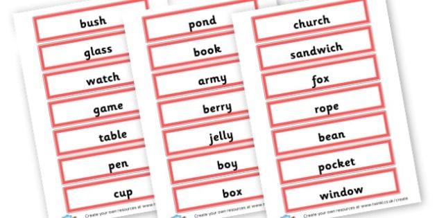 Singular Nouns Word Cards - KS2 Nouns, Words and Vocabulary, Literacy, KS2 English