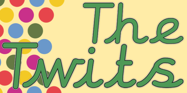 The Twits - display lettering - Story Books The Twits Primary Resources - The Twits Roald Dahl