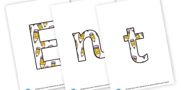 Enterprise Week - display lettering - Display Lettering Primary Resources, cut out, letters, display