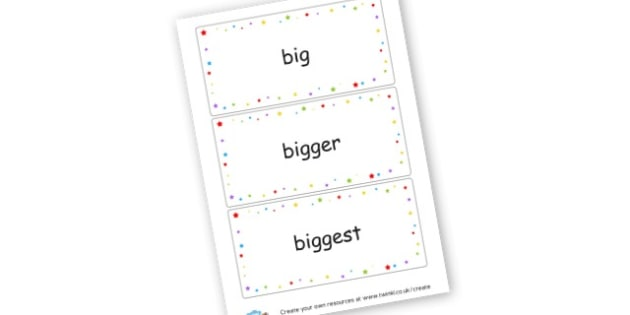 Superlative Word Cards - Grammar Visual Aids Primary Resources, grammar, aids, activities