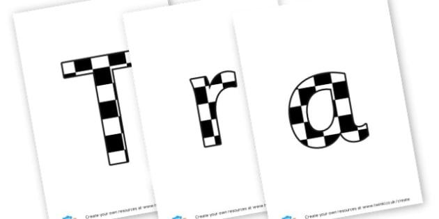 Transport - Display lettering Beech - display lettering - Transport Display Primary Resources, display, banner, poster