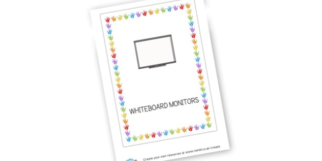 whiteboard monitors label - Classroom Signs & Label Primary Resources, labels, posters, rules