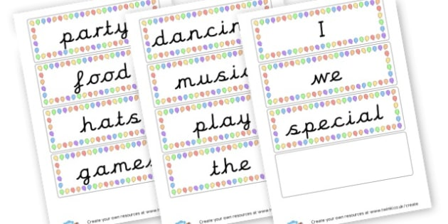 party words - display lettering - Festivals Primary Resources, Christmas, xmas, chinese new year