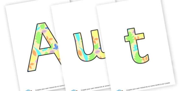 Autumn 2 display lettering - Autumn Display Primary Resources,Autumn,Primary,Display,Posters