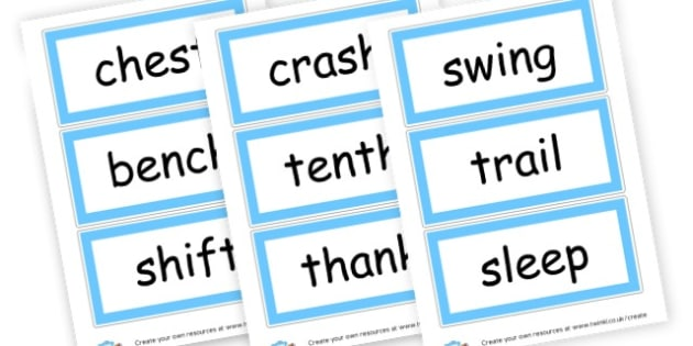 Phase 4 Blends  - Phase 4 Visual Aids Primary Resources, Phase One, Letters, sounds