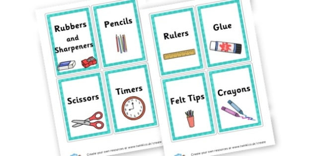 Stationery Labels - Resource Labels Primary Resources, resource, label, drawer labels