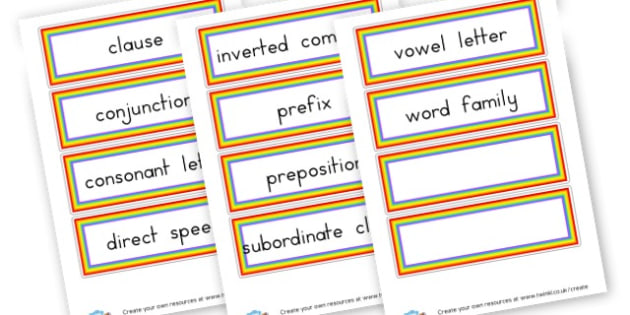 year 3 grammar terms - Grammar Visual Aids Primary Resources, grammar, aids, activities