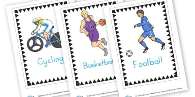 Sports cards - Sports Day Primary Resources, sport, award, reward, sports, PE