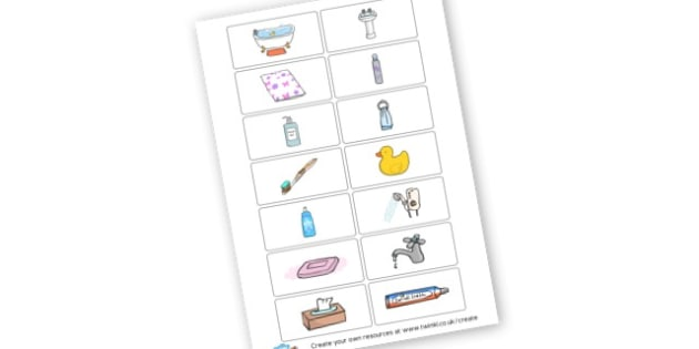100 words bath time vocabulary - Early Years Home Learning Primary Resources -  Primary Resources