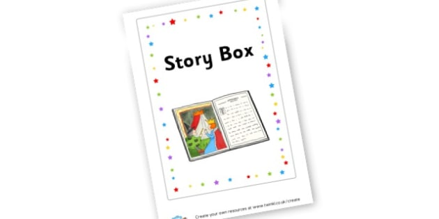 Story Box Label - Reading Area Primary Resources, signs, area, zones, banner, poster
