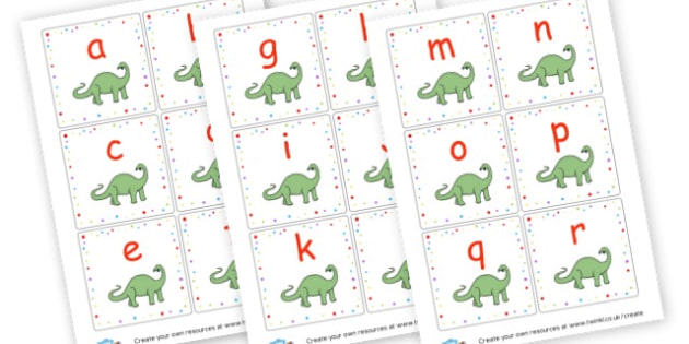 Dinosaur Lowercase Alphabet Cards - Dinosaurs Alphabet Primary Resources, phonics, letter, sounds