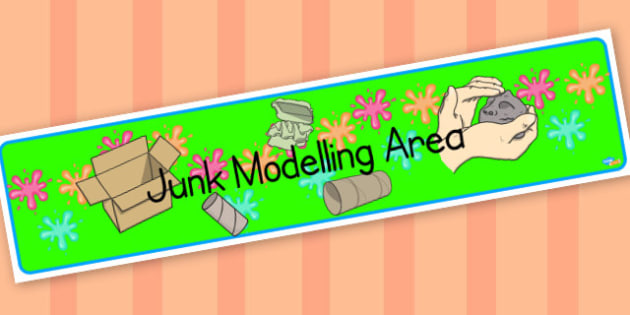junk modelling banner - display lettering - Classroom Areas Primary Resources, Posters, Areas, Zones, Banners