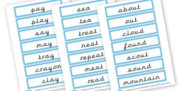 Phase 5 Words Cards - Phase 5 Visual aids Primary Resources, Phase One, Letters, sounds