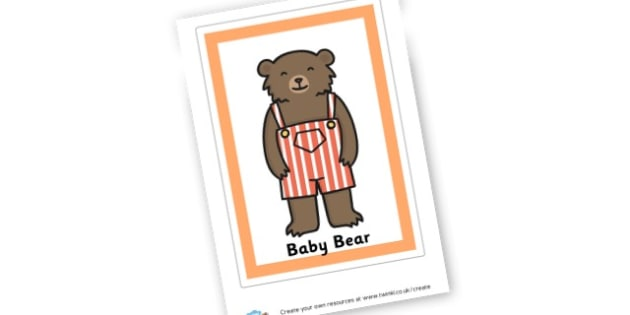 Baby Bear Poster - Goldilocks and the Three Bears Display Primary Resources, Display