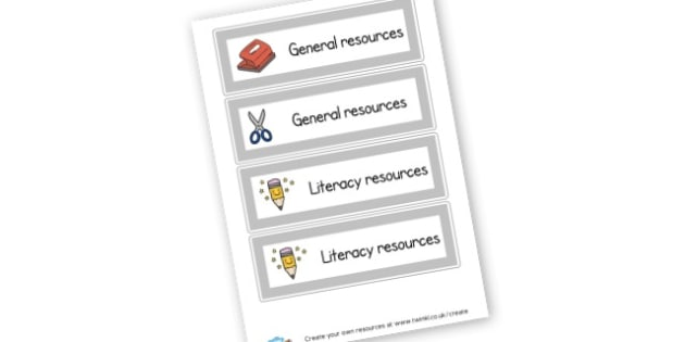 extra resource labels - Resource Labels Primary Resources, resource, label, drawer labels