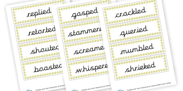 Alternative Words for Said - KS2 Story Writing Aids, Story Writing, Literacy, KS2 English