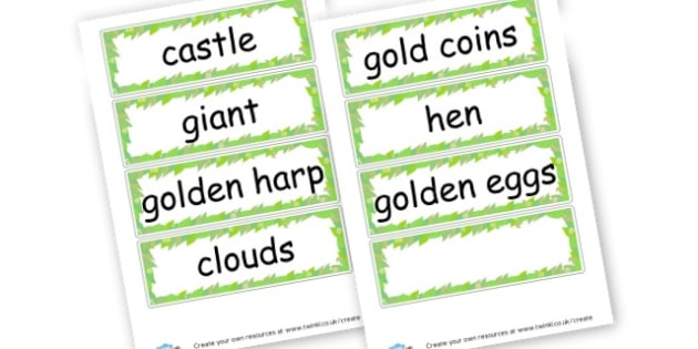 Jack and the Beanstalk - Jack and the Beanstalk Primary Resources - Traditional tales, story