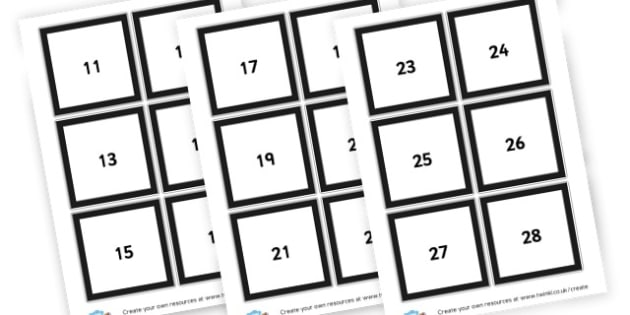 Numbers 11-100 Cards - Number Primary Resources, numbers, maths, numeracy, counting, NUMRCEY