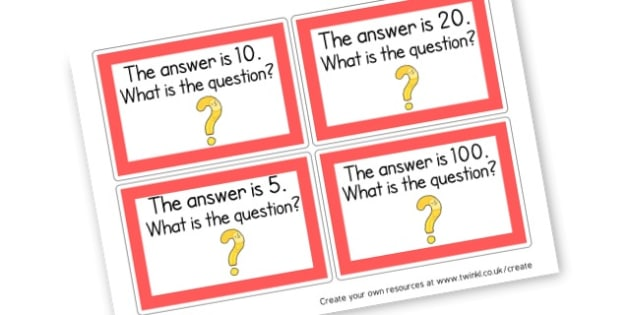 What is the question? - Solve problems, including missing number - New 2014 Curriculum