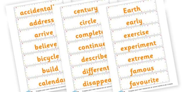 Yr 3 Spellings cards - KS2 Spelling Primary Resources, Spelling, KS2 Spelling, KS2