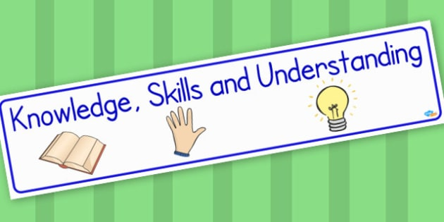 Knowledge, Skills and Understanding Display Banner - Classroom Banners Primary Resources, Banners, Classroom Signs