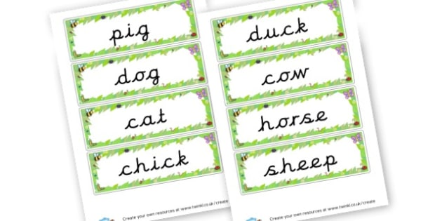 Farm Animals Word Cards - On The Farm Literacy Primary Resources, Literacy,Farm,  Primary