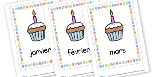 French Months Posters - French Display Primary Resources,  French, Display, Languages